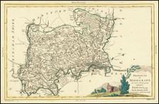 London and British Counties Map By Antonio Zatta