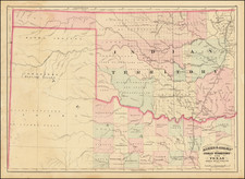 Texas and Oklahoma & Indian Territory Map By Asher  &  Adams