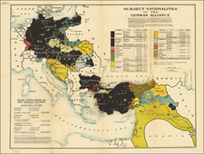 Europe, Europe, Germany, Middle East, Holy Land, Turkey & Asia Minor and World War I Map By Edward Stanford