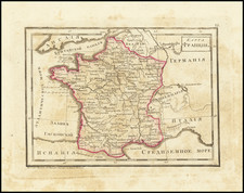 France Map By Fyodor Poznyakov  &  Konstantin Arsenyev  &  S.K. Frolov