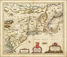 Belgii Novi Angliae Novae et Partis Virginiae Novissima Delineatio By Jan Jansson