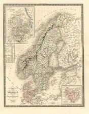 Europe and Scandinavia Map By J. Andriveau-Goujon