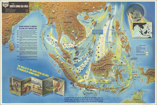 Southeast Asia and World War II Map By Educational Service Section / U.S. Navy