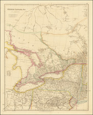 New York State, Midwest, Canada and Eastern Canada Map By John Arrowsmith