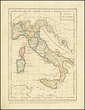 Italy, Corsica, Sardinia and Sicily Map By Fyodor Poznyakov  &  Konstantin Arsenyev  &  S.K. Frolov