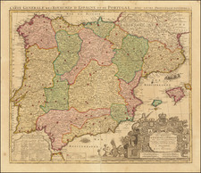 Spain and Portugal Map By Reiner & Joshua Ottens