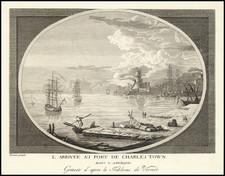 South Carolina Map By Claude Joseph Vernet