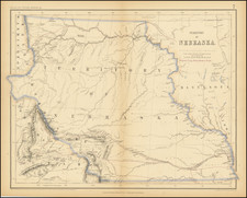 Territory of Nebraska [includes parts of Montana, Wyoming, Colorado and Dakota] By Henry Darwin Rogers  &  Alexander Keith Johnston