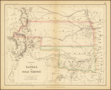 Texas, Kansas, Oklahoma & Indian Territory, Southwest, Colorado, Rocky Mountains and Colorado Map By Henry Darwin Rogers  &  Alexander Keith Johnston