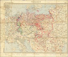 Europe, Western Europe, Central & Eastern Europe and World War II Map By General Staff of the Red Army