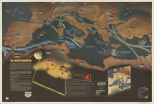 Europe, Mediterranean, Pictorial Maps and World War II Map By Educational Service Section / U.S. Navy