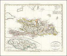 Jamaica and Hispaniola Map By Batelli & Fanfani