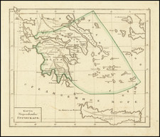 Greece Map By Fyodor Poznyakov  &  Konstantin Arsenyev  &  S.K. Frolov