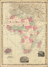 Africa Map By Alvin Jewett Johnson  &  Benjamin P Ward