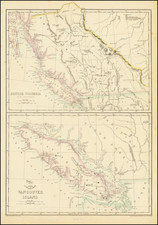 Pacific Northwest, Washington, Canada, Western Canada and British Columbia Map By Edward Weller