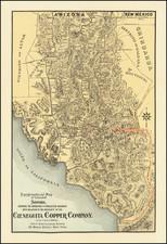 Mexico Map By Cieneguita Copper Company