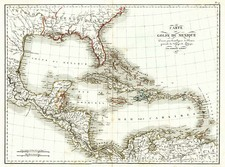 Southeast, Texas, Caribbean and Central America Map By Ambroise Tardieu
