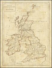 British Isles Map By Fyodor Poznyakov  &  Konstantin Arsenyev  &  S.K. Frolov