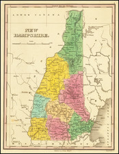 New Hampshire Map By Anthony Finley