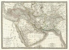 Asia, Central Asia & Caucasus, Middle East and Turkey & Asia Minor Map By Alexandre Emile Lapie