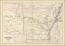 Asher & Adams' Arkansas and portion of Indian Territory By Asher / Adams