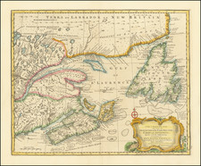 Canada and Eastern Canada Map By Emanuel Bowen