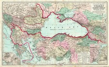 Europe, Russia, Balkans, Mediterranean, Asia, Turkey & Asia Minor and Russia in Asia Map By O.W. Gray