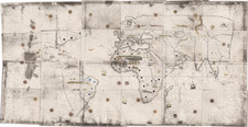 World Map By Girolamo de Verrazano