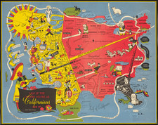 Pictorial Maps and California Map By Oren Arnold