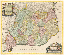 Spain Map By Frederick De Wit