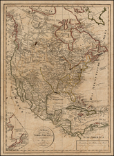 Alaska and North America Map By Franz Pluth