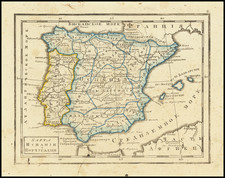 Spain and Portugal Map By Fyodor Poznyakov  &  Konstantin Arsenyev  &  S.K. Frolov