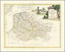 Belgium Map By Antonio Zatta