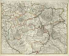 Europe and Russia Map By Johannes Covens  &  Cornelis Mortier
