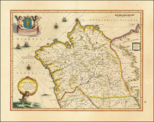 Gallaecia Regnum descripta a F.Fer. Oja Ord Pred. By Willem Janszoon Blaeu