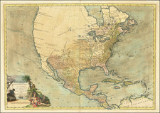 United States and North America Map By Louis Brion de la Tour / Esnauts & Rapilly