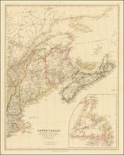 Lower Canada, New Brunswick, Nova Scotia, Prince Edward Id., Newfoundland, and a large portion of the United States By John Arrowsmith