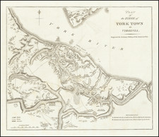 Virginia and American Revolution Map By Charles Stedman
