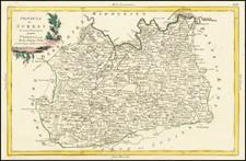 British Counties Map By Antonio Zatta