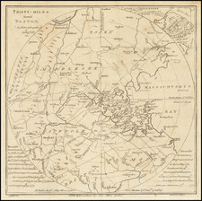 Massachusetts, Boston and American Revolution Map By Scots Magazine