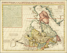 New England, Midwest and Canada Map By Henri Chatelain
