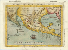 South, Southeast, Texas, Southwest, Rocky Mountains, Mexico and Baja California Map By Girolamo Ruscelli