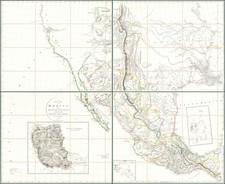 Texas, Plains, Southwest, Rocky Mountains, Mexico and California Map By Aaron Arrowsmith