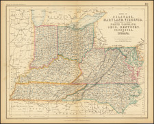 Mid-Atlantic, Southeast and Midwest Map By Henry Darwin Rogers  &  Alexander Keith Johnston