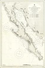 Baja California and California Map By British Admiralty