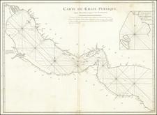 Middle East, Arabian Peninsula and Persia & Iraq Map By Jean-Baptiste-Nicolas-Denis d'Après de Mannevillette