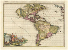 South America, California as an Island and America Map By Pieter van der Aa