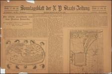 Curiosities Map By New-Yorker Staats-Zeitung