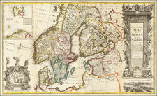 Scandinavia Map By Emanuel Bowen / George Willdey