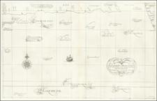 Pacific Ocean, Alaska, Japan and California Map By Robert Dudley